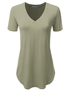 Special Offer: $19.99 amazon.com You can feel comfy and soft with this stretchy basicT-shirt. It will be good for any pants and outwear!Hand Wash Cold Water / Do Not Bleach / Line Or Hang Dry / Low Iron On Reverse Side If NeededJJ Perfection Women's V-Neck Short Sleeve Soft Loose Fit...