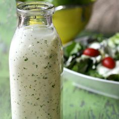 Homemade Cilantro Lime Ranch Dressing, Eric LOVED this !!! Put it on fried fish tacos, yum yum !!!!!