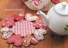 Heart Tea Mug Rug