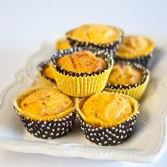 Tasty, gluten free and low FODMAP sweet potato and cheese muffins.
