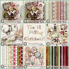 The 12 Days of Christmas Collection - $9.99 : Digital Scrapbooking Studio