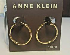 """ANNE KLEIN Gold Tone Hoop Earrings 1"""" #AnneKlein #Hoop Rings N Things, Anne Klein, Hoop Earrings, Gold, Ebay, Rings And Things, Earrings, Yellow"""