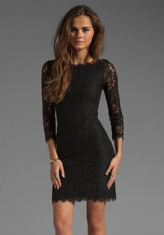DIANE VON FURSTENBERG Zarita Dress in Black at Revolve Clothing - Free Shipping!