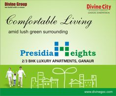 The best way to stay away of city pollution is to book home in #PresidiaHeights of #DivineGroup. This ultra luxurious residential complex is rich on greenery.