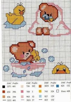 Punto croce designs cross stitch animals, cross stitch for kids, cross stitch Cross Stitch For Kids, Cross Stitch Baby, Cross Stitch Animals, Cross Stitch Charts, Baby Embroidery, Cross Stitch Embroidery, Embroidery Patterns, Broderie Simple, Funny Cross Stitch Patterns