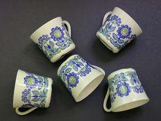 Figgjo Tor Viking Tea Cups, Mugs, Teacups - Vintage Figgjo Flint - Turi Gramstad Oliver - Scandinavian - Turi Design Norway - 4 Available by EightMileVintage on Etsy