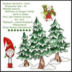 Kartka świąteczna 🎅⛄💜🌲💚 Xmas, Christmas Ornaments, Happy New Year, Holiday Decor, Cards, Food, Christmas, Christmas Jewelry, Essen