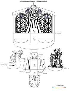 Hundreds of free printable Xmas coloring pages and Xmas activity sheets for children of all ages. Christmas Nativity Scene, Christmas Angels, Nativity Scenes, 3d Templates, Religion Catolica, Angel Crafts, Christmas Paper Crafts, Paper Models, Craft Activities