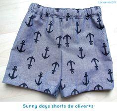 กางเกงเด็ก Tutorial costura fácil: shorts para niño (patrón gratuito de Oliver+S) Sewing Kids Clothes, Sewing For Kids, Baby Sewing, Diy Clothes, Shorts Diy, Sewing Shorts, Short Bebe, Short Niña, Toddler Fashion