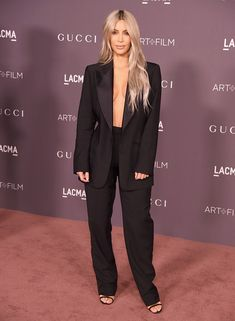 Kim Kardashian attends the 2017 LACMA Art + Film Gala Honoring Mark Bradford And George Lucas at LACMA.