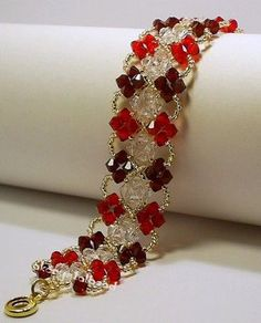 Red & Clear Swarovski Crystal Bracelet | Make with Swarovski… | Flickr