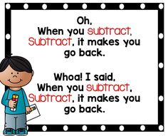 Subtraction Chant
