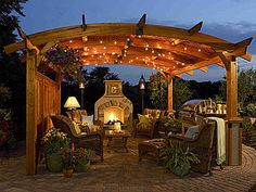 Love this with the outdoor fire place.