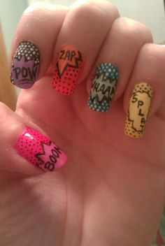 comedy strip nails: daring and different