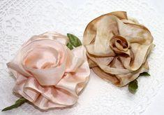 Silk Ribbon Roses Tutorial
