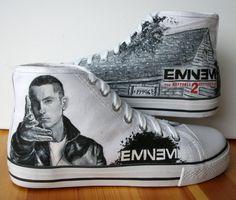 Custom Painted Eminem Chucks. Next pair of shoes i'm getting!