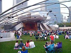 Pritzker Pavilion at Millennium Park Chicago  (PHOTO INSTANT DOWNLOAD) by Mike Kraus
