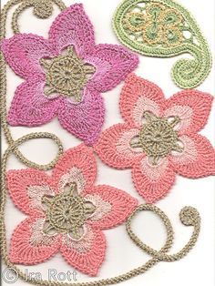 Absolutely beautiful #crochet motifs. Turn this into just about anything or stare at it all day long. Flowers add beauty to any #crochetdesign.
