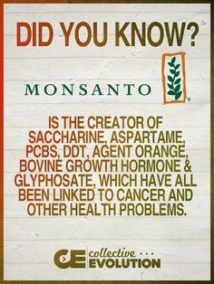 Monsanto is the creator of many chemicals and products linked to cancer and other health problems. Join the Food Revolution Network and get the news and insights you need for healthy food: foodrevolution.org