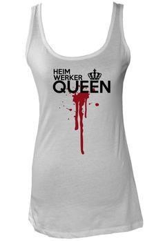 Heimwerker Queen Dame, Athletic Tank Tops, Fun, Fashion, White Shirts, Cool Shirts, Tops, Moda, Fashion Styles