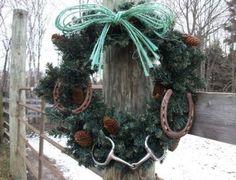 Wreath idea for horse lovers
