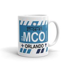 MCO Orlando Airport Code Baggage Tag Mug