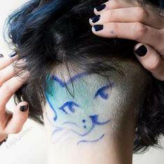Short Hair Shaved Sides, Undercut Designs, Hair Tattoos, Symbol Design, Creative Hairstyles, Rainbow Hair, Blue Hair, Shaving, Besties