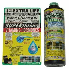 Superthrive Plant Vitamins and Hormones - 16oz by SuperThrive. $29.78. SuperThrive increases yields, and helps plants grow faster by stimulating the production of natural hormones. Works great with both hydroponics and soil gardening. It is also excellent for helping young seedlings get a quick start on life, or for reviving sickly plants. Do not use more than the recommended dosage of 1/4 teaspoon per gallon. SuperThrive can be used every time you water your plants. Super...