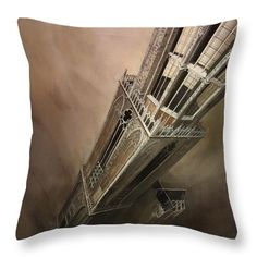 "Utrecht Dom Tower Throw Pillow by Tobias De Haan.  Our throw pillows are made from 100% spun polyester poplin fabric and add a stylish statement to any room.  Pillows are available in sizes from 14"" x 14"" up to 26"" x 26"".  Each pillow is printed on both sides (same image) and includes a concealed zipper and removable insert (if selected) for easy cleaning."