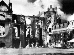 Das Königsberger Schloss brennt
