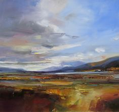 Loch Laidon  - David Atkins (Love the thick blends of color)