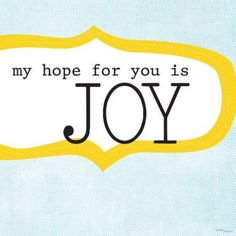 Oopsy Daisy - My Hope For You Is Joy Canvas Wall Art 18x18, Vicky Barone