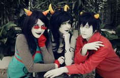 Latula Pyrope, Porrim Maryam, Kankri Vantas - Homestuck  OH MY GOD HOW DO YOU EVEN???? cosplay and BE ATTRACTIVE?? AT THE SAME TIME I???? wow im spazzing i just like attractive people in cosplay im sorry