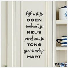Mooi voor in de keuken! Food Quotes, Sign Quotes, Me Quotes, Funny Quotes, Kitchen Quotes, Dutch Quotes, Creative Lettering, Sweet Words, More Than Words