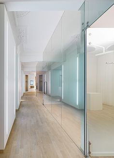 weissraum Dental surgery, Munich. 프로젝트 진행 Ippolito Fleitz Group – Identity Architects, 천장재.