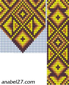 Pendant and Strap Loom Beadwork Pattern  #heartbeadwork  #loombeading