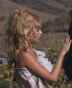 Brigitte Bardot on the set of Viva, Maria!, 1965