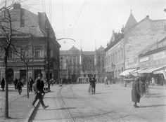 Csapó utca, szemben az Aranybika szálló (1954) Street View, History, Retro, Utca, Rustic, Historia, History Activities