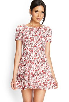 I also got this Floral Skater Dress in black and red from Forever 21