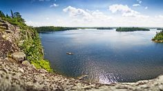 BWCA scenery from Seagull Lake at the end of the Gunflint Trail