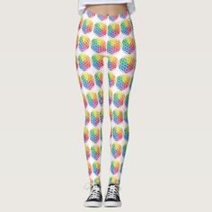 Rainbow Flower of Life Leggings - fun gifts funny diy customize personal