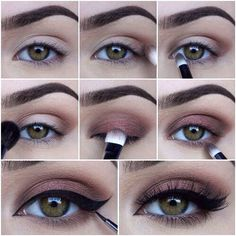 winged liner. #brows