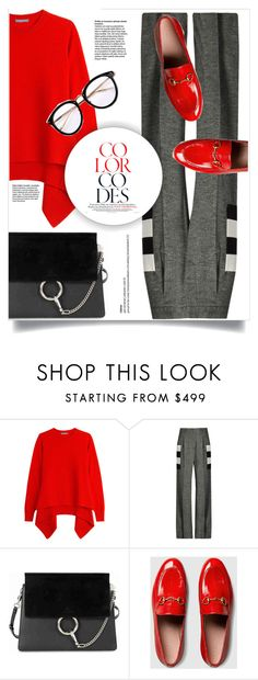 """""""color codes."""" by linds-rae ❤ liked on Polyvore featuring Alexander McQueen, MaxMara, Chloé and Gucci"""