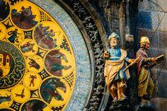 Close up of the calendar dial on the Prague astronomical clock. Beautiful!