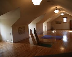 Love this creative idea of turning an attic into a yoga studio.