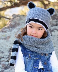 9a5039b65fa Crochet Cowl   Hat PATTERN Raccoon Adventures crochet