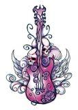 Midnight Guitar Tattoo