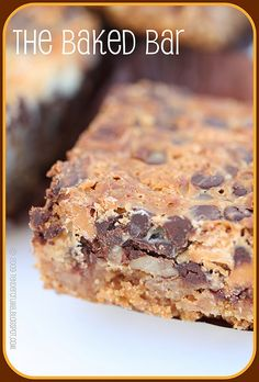 The Baked Bars (butterscotch, chocolate chips, white chocolate, walnuts)
