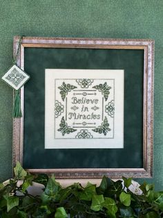Here's another cross stitch pattern from Scissor Tail Designs. I'd stitch it up in different colors on a painted canvas, but I love the sentiment and the butterfly border. Available from Stitching Bits and Bobs: https://www.stitchingbitsandbobs.com/cgi-bin/Store/showimage.cgi?ScissorTailDesigns0BelieveInMiracles900