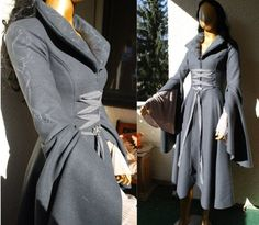 gown Riding coat Arwen The Lord of the Rings costume chase outfit by Volto-Nero.com $399.00